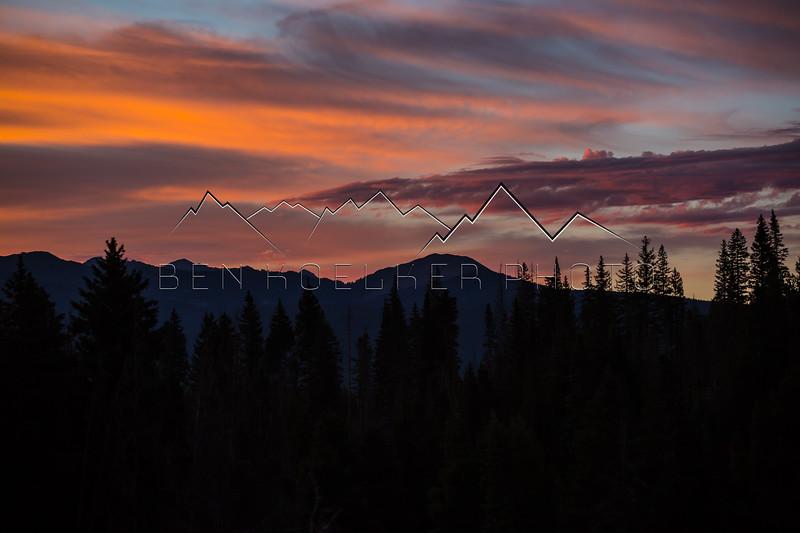 Sunrise in the Gore Range, CO
