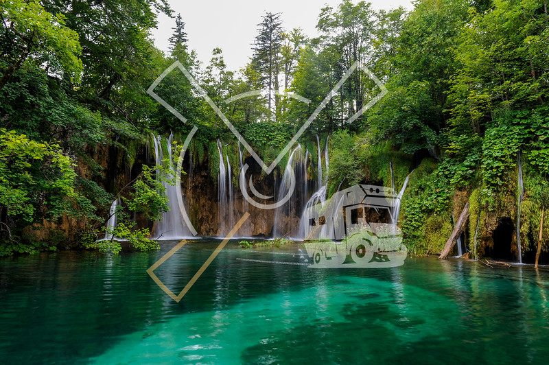 Landscape image of the Plitvice Lakes national park