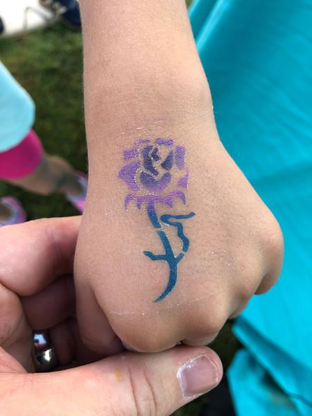 Tattoos- airbrush/glitter