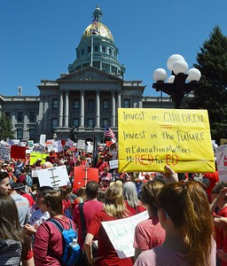 Teachers & Students March In Denver, Co - 4/27/18