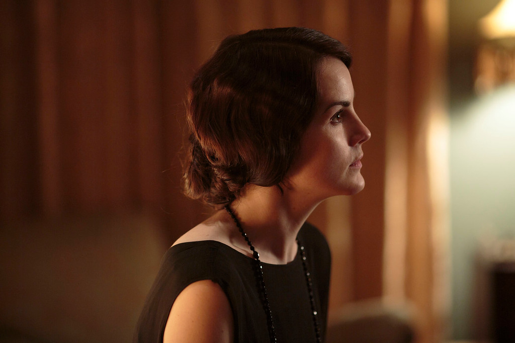 """. Michelle Dockery as Lady Mary. The fourth season of \""""Downton Abbey\"""", set in 1922, sees the return of our much loved characters. As they face new challenges, the Crawley family and the servants who work for them remain inseparably interlinked.   (Photo by Nick Briggs/Carnival Films & Television Limited 2013 for MASTERPIECE)"""
