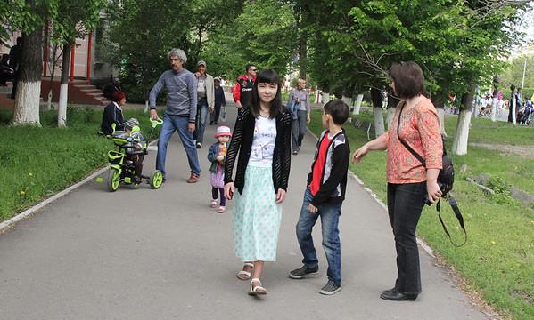 Watching 1 May Parade