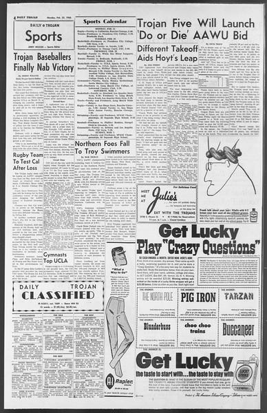 Daily Trojan, Vol. 54, No. 69, February 25, 1963