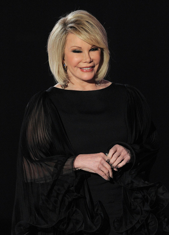 . Joan Rivers s seen on stage at the 16th Annual Critics\' Choice Movie Awards on Friday, Jan. 14, 2011, in Los Angeles. (AP Photo/Chris Pizzello)
