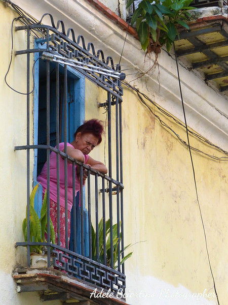 Lady On Balcony