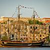 HMS Bounty tied up in the Savannah River, Savannah, Georgia