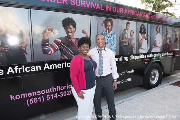 2018 Komen South Florida Race for the Cure Bridge Lighting and Palm Tran Bus Unveiling