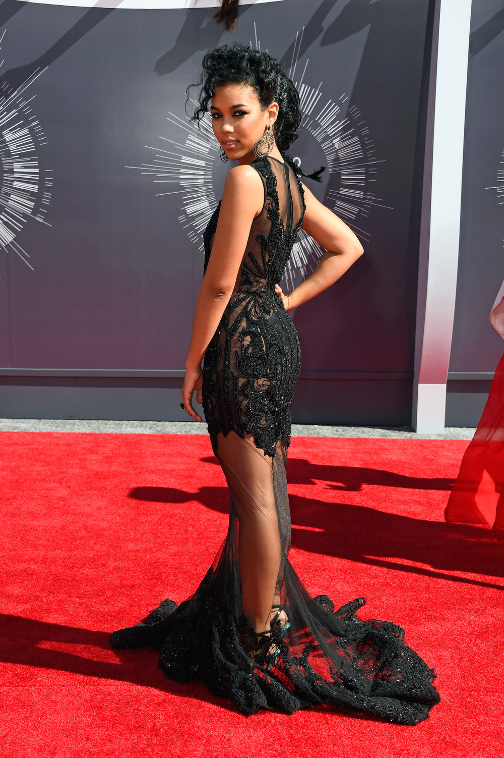 . Actress Alexandra Shipp attends the 2014 MTV Video Music Awards at The Forum on August 24, 2014 in Inglewood, California.  (Photo by Frazer Harrison/Getty Images)