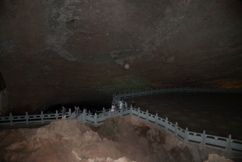 The other side of the square in the largest cave in the world.