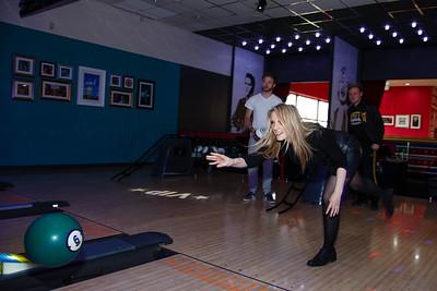Adults bowling