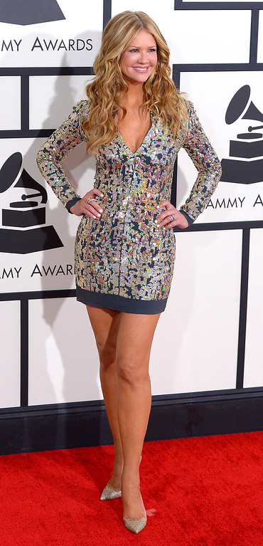 . Nancy O\'Dell arrives at the 56th Annual GRAMMY Awards at Staples Center in Los Angeles, California on Sunday January 26, 2014 (Photo by David Crane / Los Angeles Daily News)