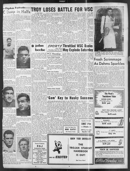Daily Trojan, Vol. 39, No. 9, September 25, 1947