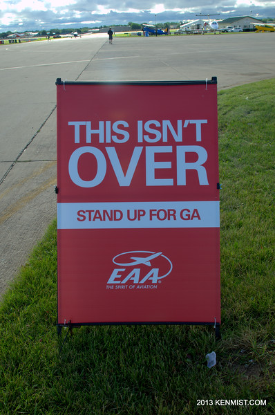 These signs are everwhere.  EAA on the offensive.