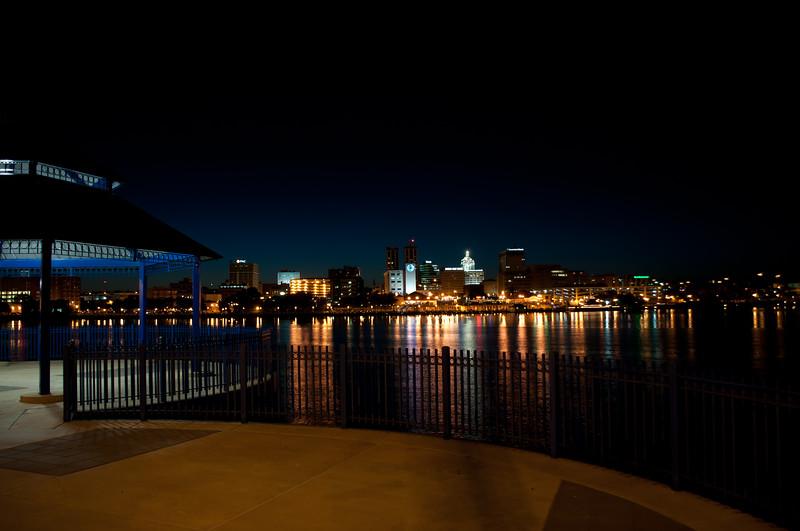 Peoria IL Skyline at Night