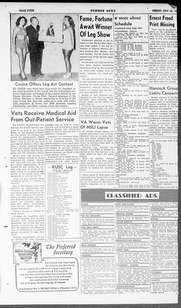 Summer News, Vol. 3, No. 17, July 30, 1948
