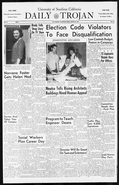 Daily Trojan, Vol. 55, No. 87, March 20, 1964