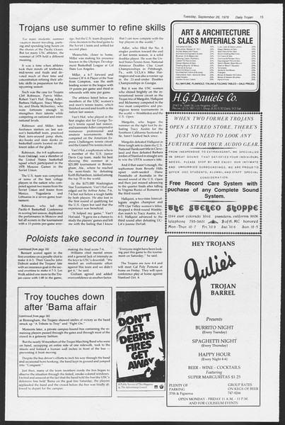 Daily Trojan, Vol. 75, No. 6, September 26, 1978