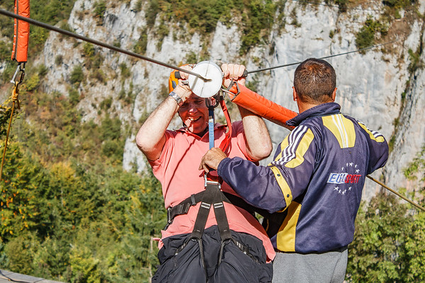 Montenegro 2017 Tara bridge Zip-line