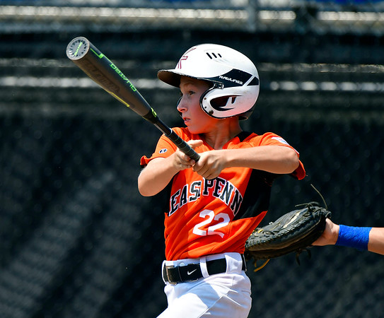 8/7/2019 Mike Orazzi | Staff Pennsylvania's Lucas Martz (22) during Wednesday's Eastern Regional Little League Baseball game at Breen Field in Bristol.