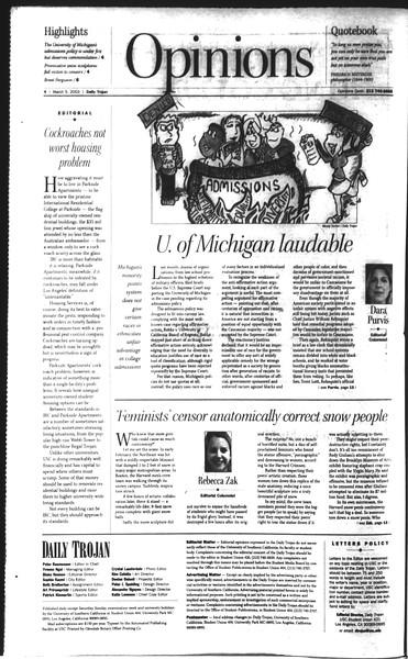 Daily Trojan, Vol. 148, No. 33, March 05, 2003