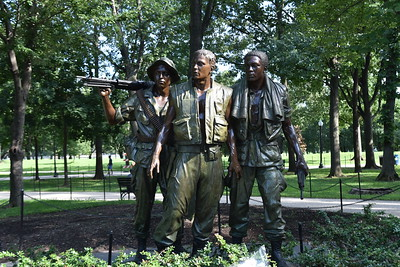 DC, Washington - Vietnam Veterans Memorial - Three Soldiers, 2018