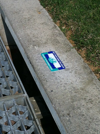 8.16.14 PHG Storm Drain Marking in Catonsville