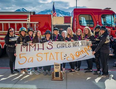 Girls Championship Fire Truck Ride 2021