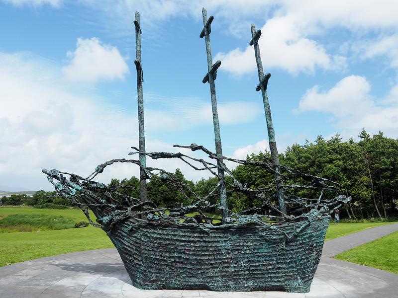 Famine Memorial in County Mayo, Ireland