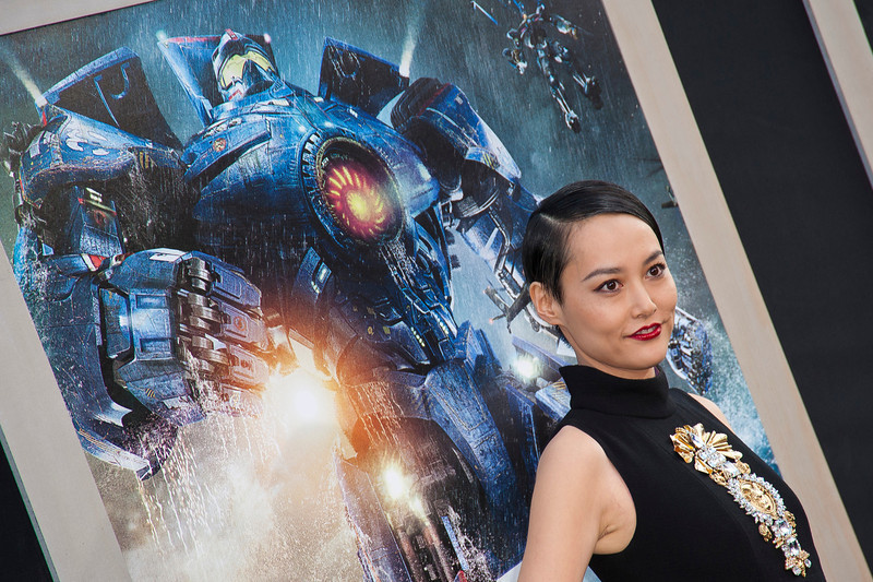HOLLYWOOD, CA - JULY 09: Actress Rinko Kikuchi arrives at the premiere of Warner Bros. Pictures' and Legendary Pictures' 'Pacific Rim' at Dolby Theatre on Tuesday, July 9, 2013 in Hollywood, California. (Photo by Tom Sorensen/Moovieboy Pictures)