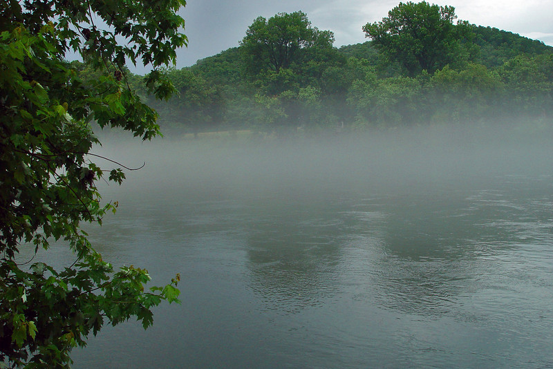 The fog was very cool, but very cold. It would move back and forth across the river valley. When you got into it, the temperature probably fell 15 to 20 degress instantly.