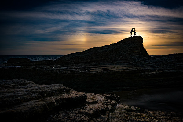 Anna and Elliot (Engagement Photography) @ Panther Beach, Santa Cruz, California