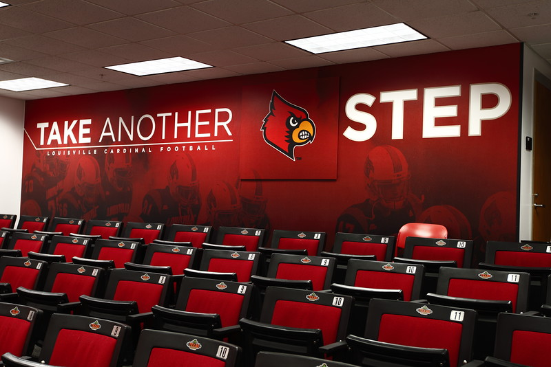 Louisville Football team meeting room