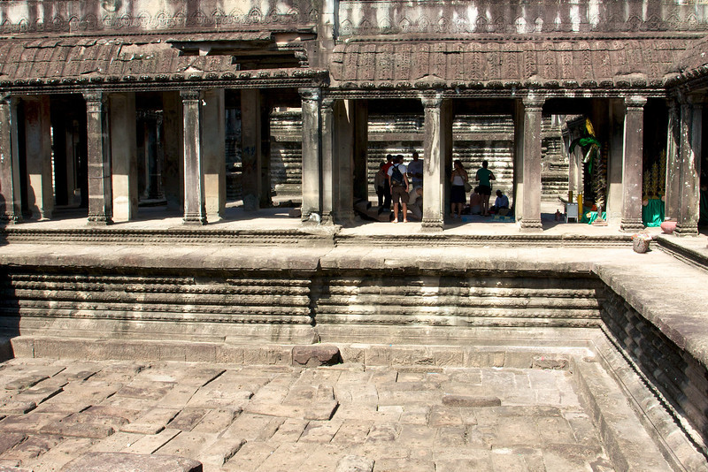 Temple of Angkor Wat - the one in the Cambodian Flag.