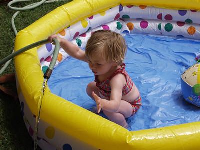 Katie in Our Palatial Pool