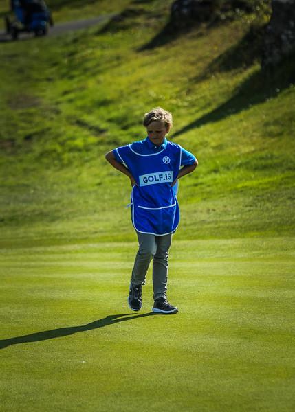 Veigar Heiðarsson.  Íslandsmót í golfi 2019 - Grafarholt 2. keppnisdagur Mynd: seth@golf.is