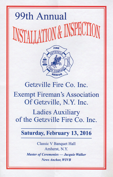 Getzville Fire Dinner - 2016
