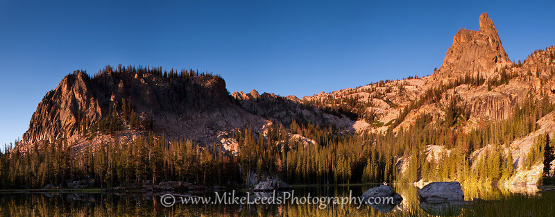 Un-named lake and the Finger of Fate in the Sawtooth Mountains, Idaho.