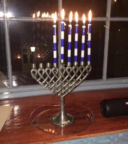 Hanukkiah (Hanukkah Menorah) (Photo by Heather Brown)