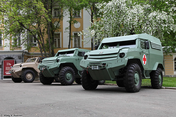 Prototypes of Toros and Kolun armored vehicles
