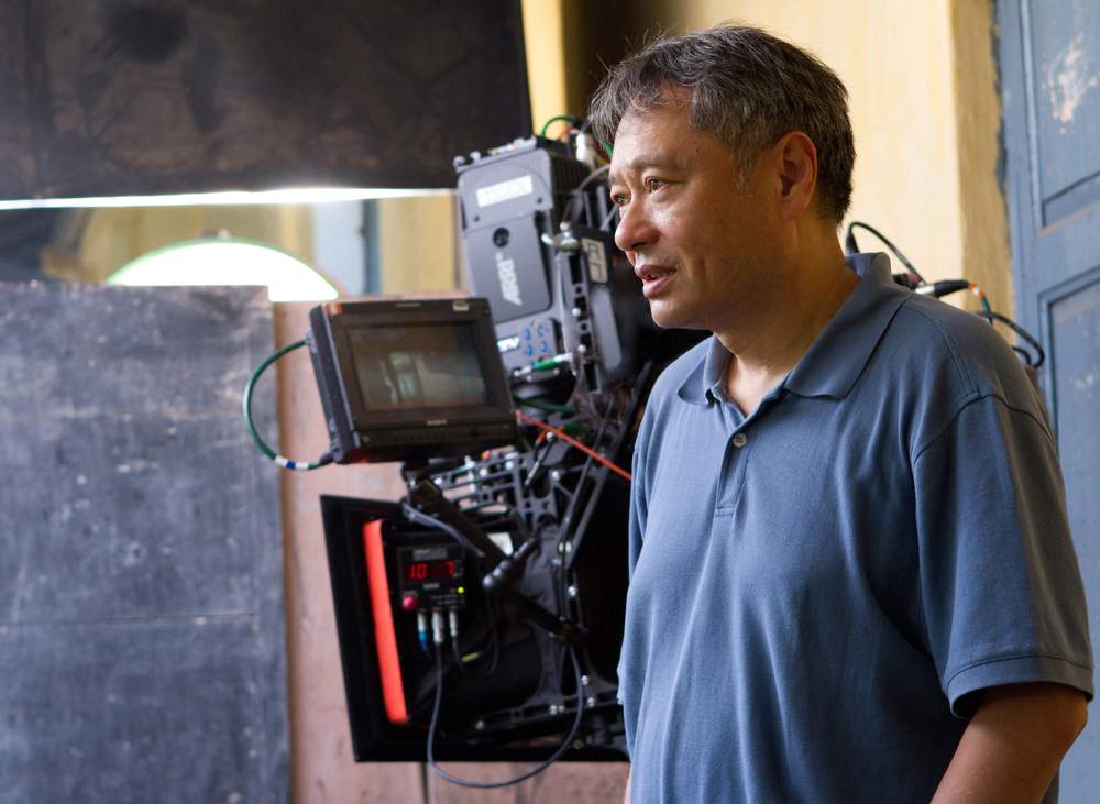 Description of . This film image released by 20th Century Fox shows director Ang Lee on the set of