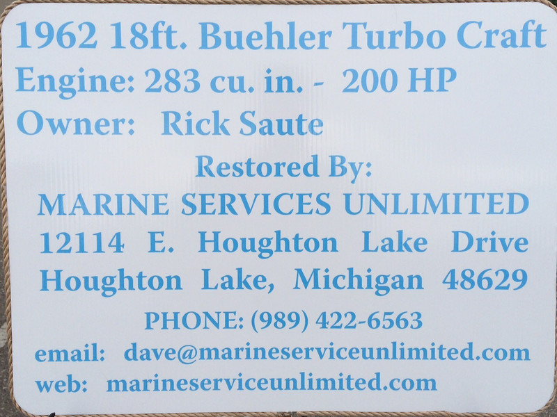 Boat description for the boat show display.