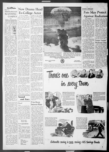 Daily Trojan, Vol. 45, No. 8, September 30, 1953