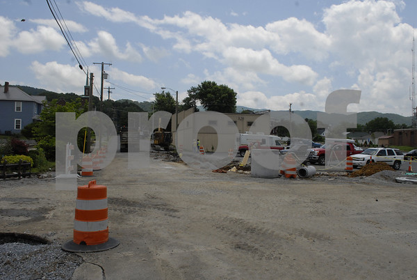 Erwin Downtown Revitalization Construction - June 2013