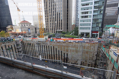 The Mark development continues construction in downtown Seattle, Washington