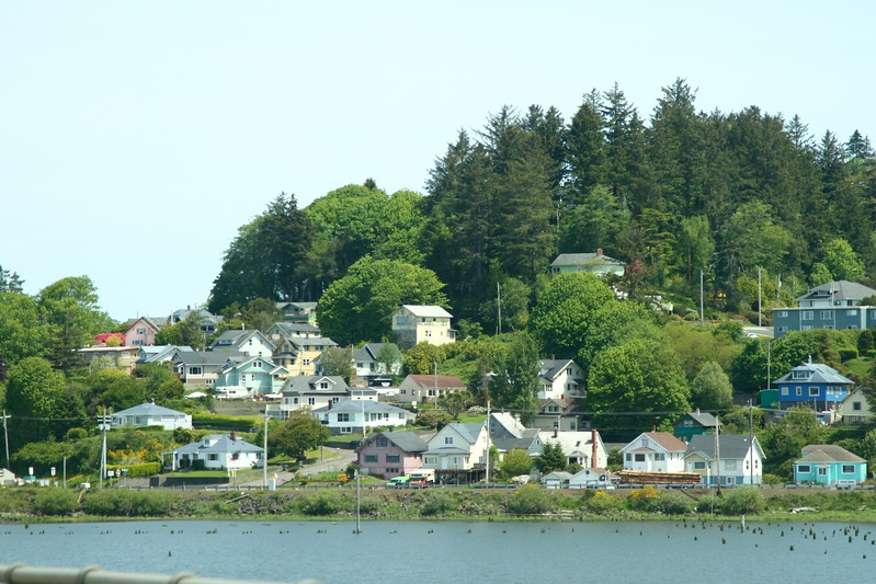 Approaching the town of Astoria