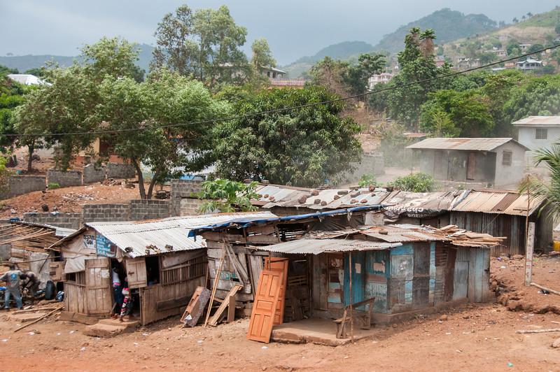 Houses in Freetown, Sierra Leone