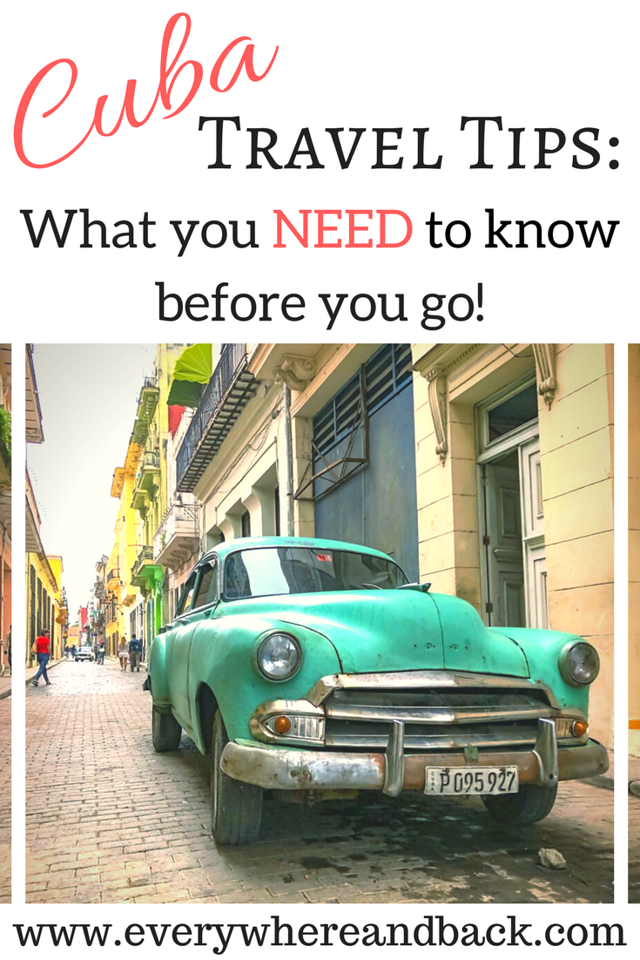 Cuba Travel Tips: What you need to know before you go! How to Travel to Cuba - Best Money Tips for Cuba - Getting Around Cuba -- Photo: Cuban Classic Car on a street in Havana Cuba