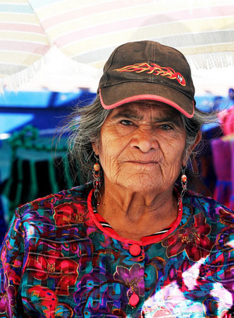 Old Lady at a Ensenada Market