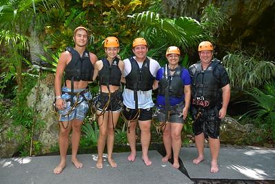 Zipline into Cenote at Jungle Maya (2019-07-23)