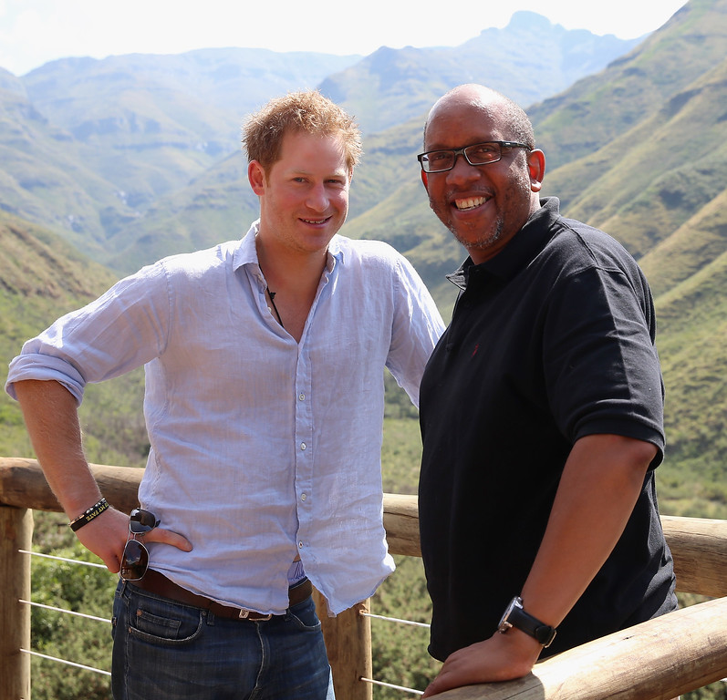 . Prince Harry with Prince Seeiso of Lesotho in the Maluti Mountains on December 8, 2014 in Mokhotlong, Lesotho. (Photo by Chris Jackson/Getty Images for Sentebale)